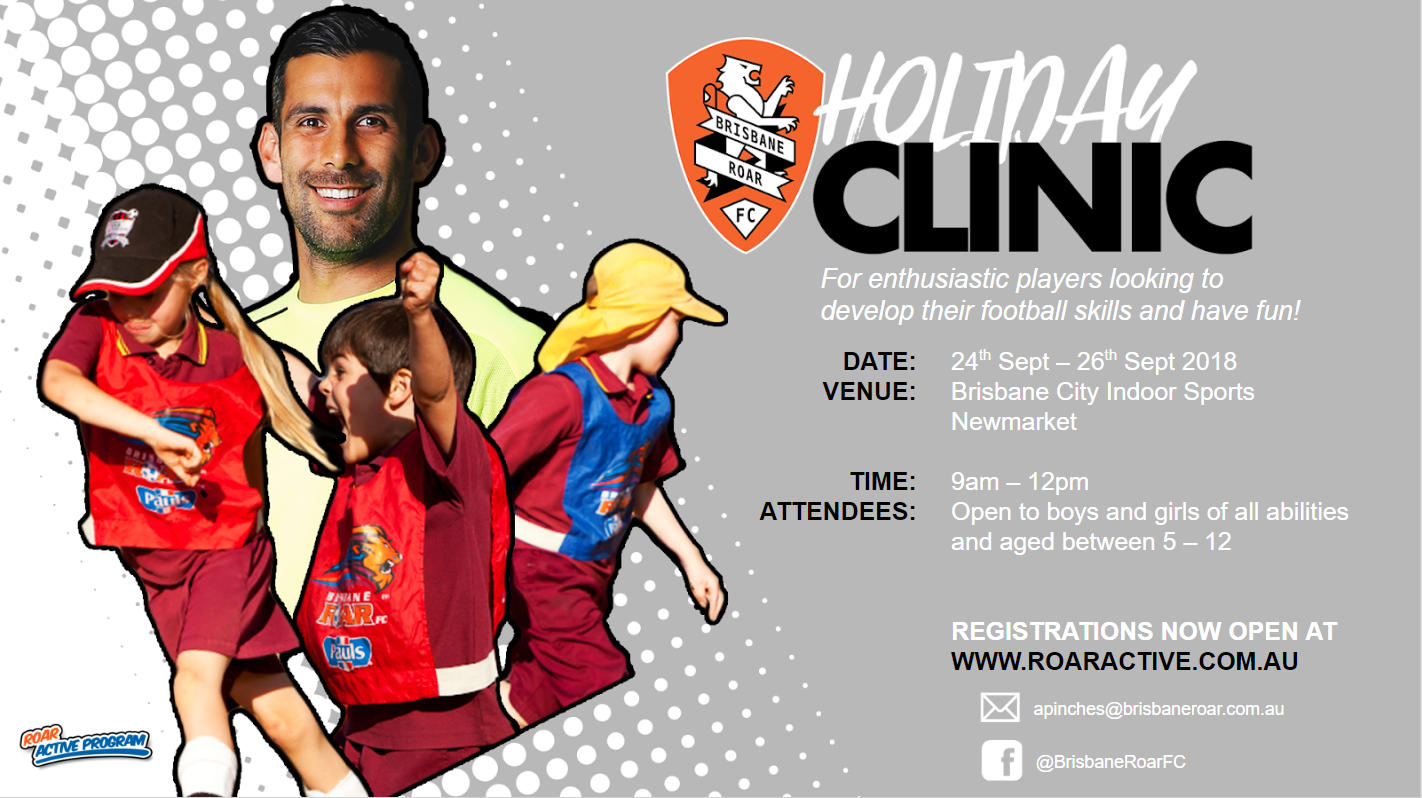 Brisbane Roar Junior Soccer Clinic Newmarket Brisbane City Indoor Sports